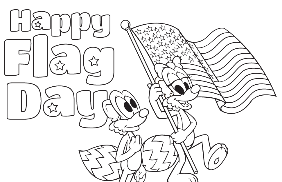 flag day coloring pages Flag Day Coloring Page   Waterford UPSTART flag day coloring pages